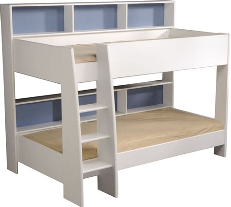 parisot tam tam white bunk bed with shelves the home and