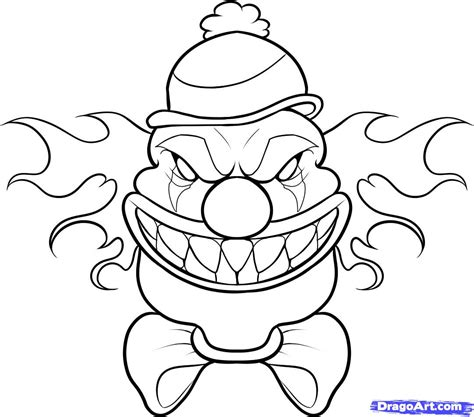 clown coloring pages scary clown face coloring pages