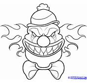Olorful Clowns Colouring Pages
