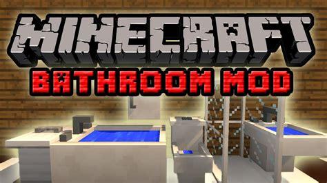 bathroom mod minecraft minecraft mody bathroom mod prysznic kibel umywalka czyli łazienka w grze youtube