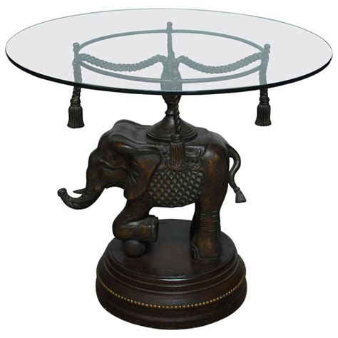 Elephant Table L Bronze Elephant Pedestal Side Table For Sale At 1stdibs