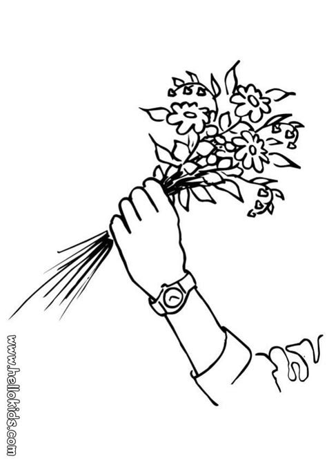 coloring pages of bunch of flowers bunch of flowers coloring pages hellokids com