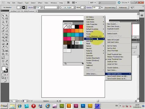 adobe photoshop cs2 tutorial youtube illustrator swatches installation and basic use tutorial