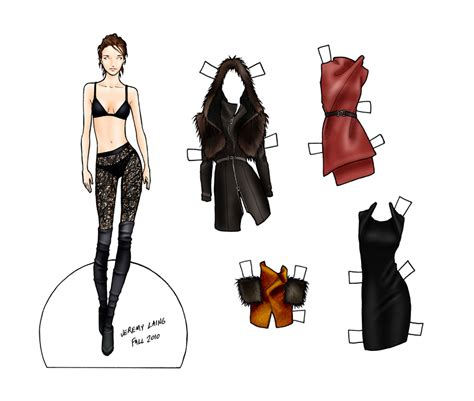 Fashion Paper Dolls Final Fashion 187 Paper Doll Jeremy Laing Fall 2010 File Under Quot Paper Fashion Paper Doll Template