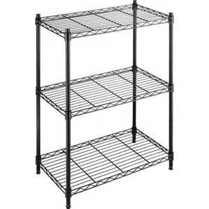 whitmor supreme small 3 tier shelves black walmart