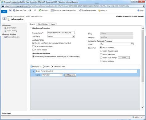dynamics crm workflows workflow processes in dynamics crm 2013 microsoft