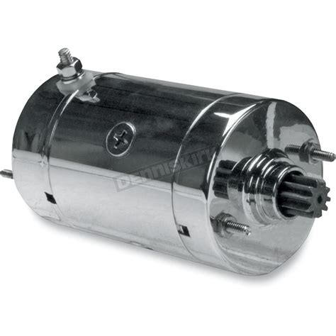 drag specialties chrome high torque starter  models equipped whitachi starters
