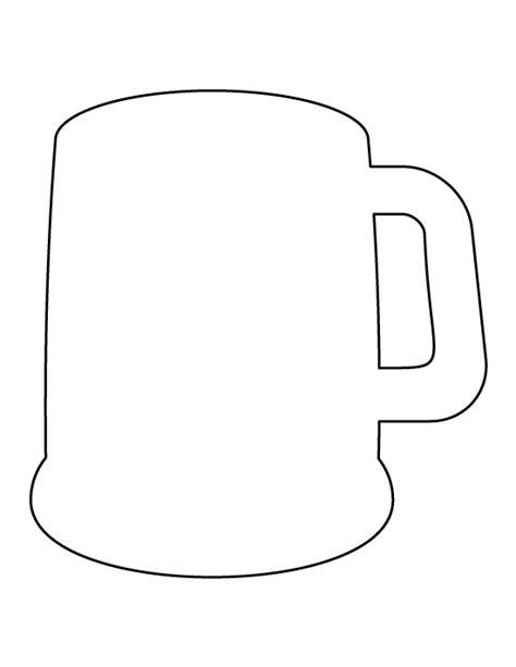 printable stencils for mugs beer mug pattern use the printable outline for crafts