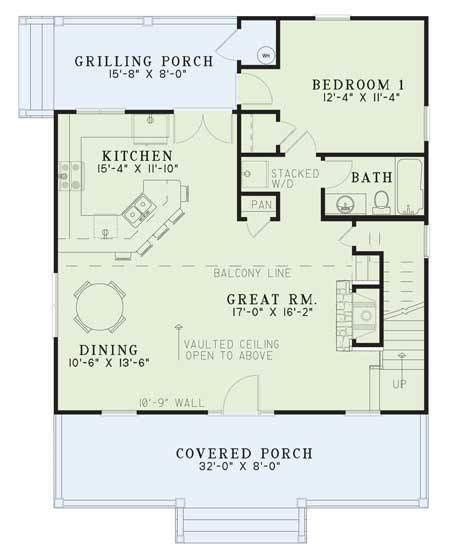 Cottage Plan 1 400 Square Feet 2 Bedrooms 2 Bathrooms 1400 Square Foot Bungalow Floor Plans