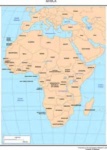 Africa Map Capitals by Africa Map With Just Capitals Map Of Africa With Capitals