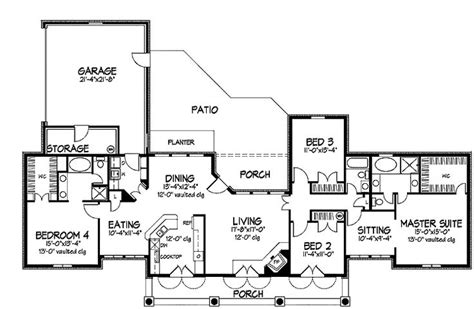 one story floor plans with two master suites 44 best images about dual master suites house plans on