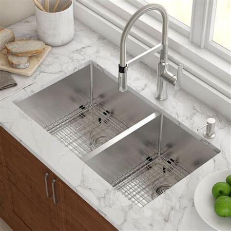 Kitchen Sink Store by Kraus 33 Quot X 19 Quot Basin Undermount Kitchen Sink With
