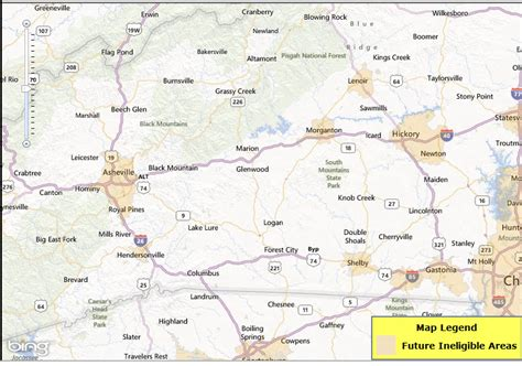 map of hickory nc usda loan map eligibility changes in nc jan 2014 nc fha