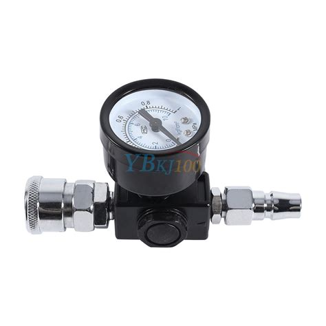 air pressure regulator 1 4 quot spray gun air regulator pressure valve diaphragm auto paint ebay