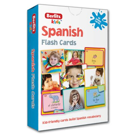 spanish flash kids flash berlitz kids spanish flashcards 9781780044651 little linguist