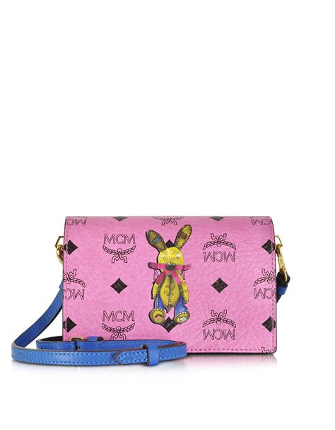 Mcm Medium Rabbit Crossbody Bag mcm rabbit mini crossbody bag in pink lyst
