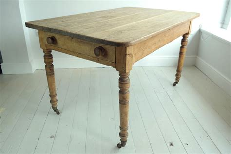 victorian antique rustic pine dining kitchen table with