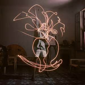 picasso s light drawings wewastetime