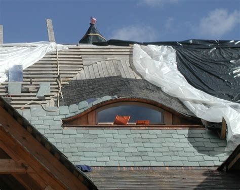 Eyebrow Dormer Construction building a timberframe home from scratch eyebrow dormer starting the slate