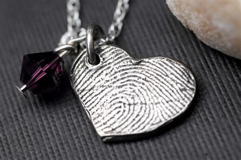 how to make fingerprint jewelry silver custom fingerprint jewelry necklace personalized