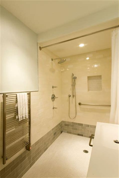 barrier free shower basement ideas