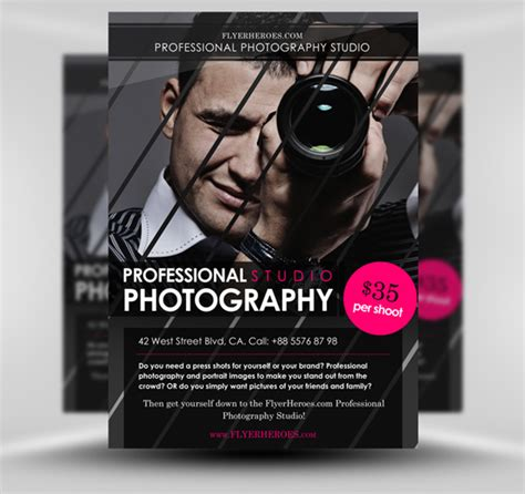 photographer design templates free photography flyer templates