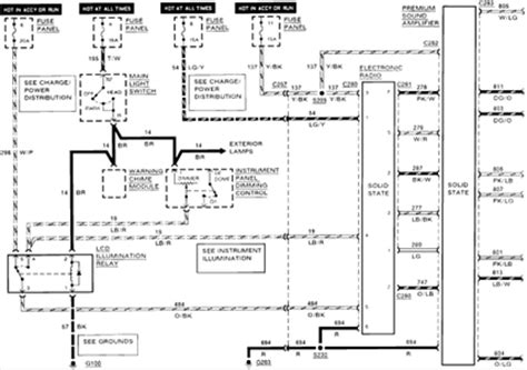 solved visual diagram of a 1990 ford mustang radio wiring