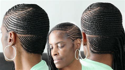 small feed in side braids cornrows on hair