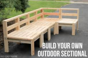 how to build an outdoor sectional knock it east