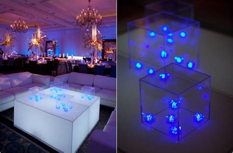 rutic blue led lights decors ideas on the stairs and the wall picture as well wooden floor and 5 ideas for led centerpieces statement centerpiece by david tutera mazelmoments bat