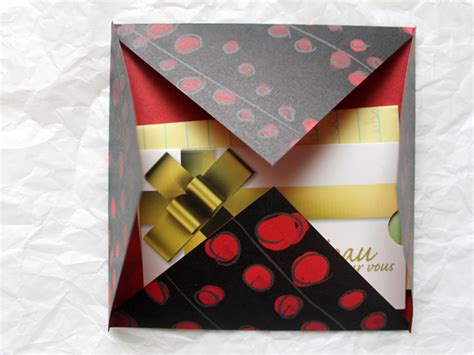 Gift Card Origami - origami envelope for gift wrapping and mailing gift card