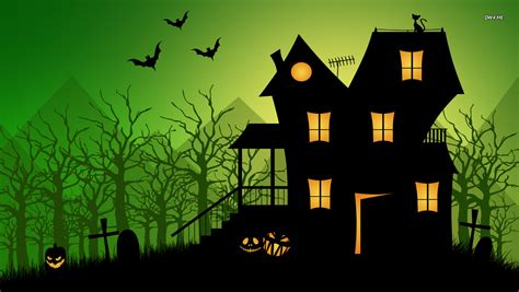 halloween houses haunted house wallpaper holiday wallpapers 1769