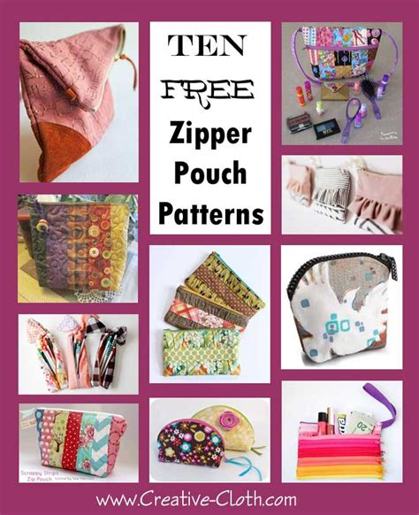 3d Pattern Pouch 10 free zipper pouch patterns matthews textile
