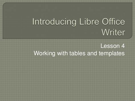 card templates for libre writer libre office writer lesson 4 working with tables and