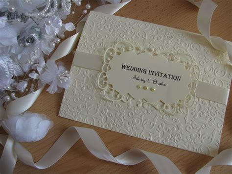 Handmade Vintage - personalised vintage wedding invitation stationery set