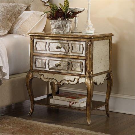 Mirrored Furniture Nightstand furniture sanctuary mirrored leg nightstand in