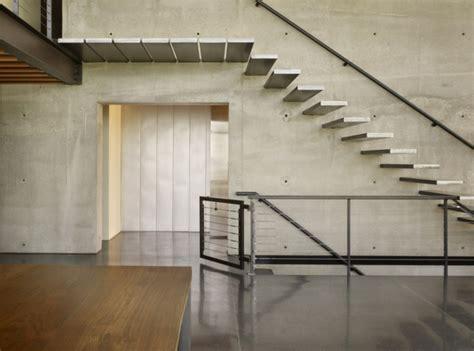 treppe an der wand freitragende treppe coole ideen