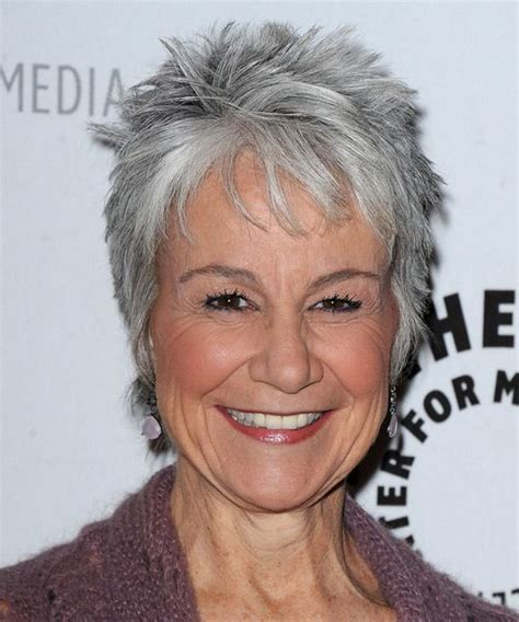 older women short hair with grey low light choppy pixie for salt pepper hair
