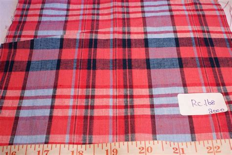 Plaid Patchwork Fabric - madras fabric madras plaid plaid fabric patchwork