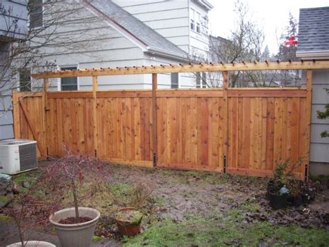 pergola privacy fence custom cedar fence and pergola true privacy fence with