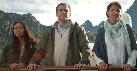 what movies are in theaters downsizing by matt damon and christoph waltz downsizing matt damon gets small in first trailer ew com