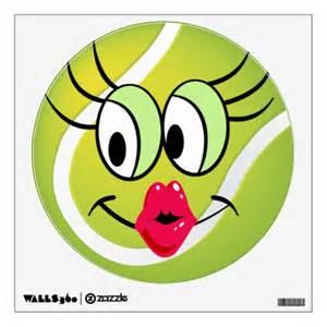 Cartoon tennis sports ball wall decal zazzle
