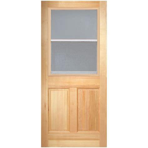 Vented Exterior Door Masonite 30 In X 80 In Vent Lite 2 Panel Unfinished Fir Front Door Slab 82730 The Home Depot
