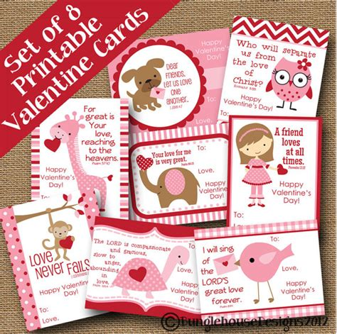 valentines cards for school printable 5 printable s day cards on etsy
