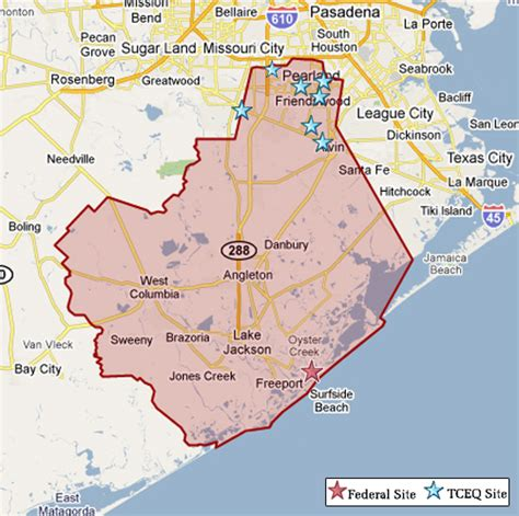 brazoria county texas map superfund in brazoria county tceq www tceq texas gov