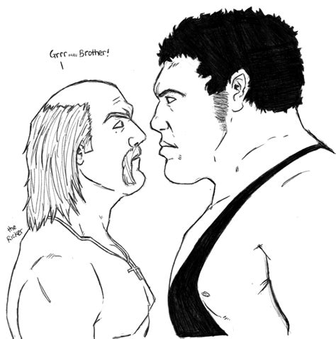 wwe coloring pages hulk hogan hulk hogan vs andre the giant by themonkeyyouwant on