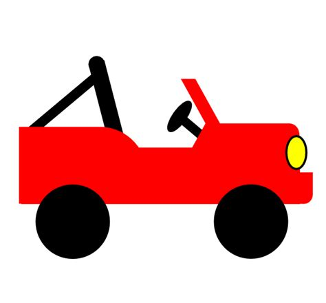Red Jeep Clip Art At Clker Com Vector Clip Art Online