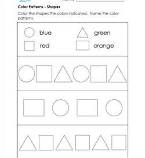 shape colour pattern worksheets pattern worksheets for kindergarten a wellspring of