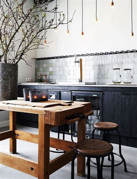 rustic contemporary contemporary black kitchen with rustic elements