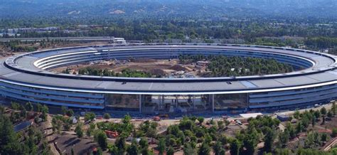 apple park latest flyover footage offers look at apple park cafe as